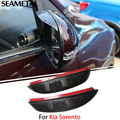 For Kia Sorento 2009 2010 2011 2012 2013 2014 Car Exterior Rearview Mirror Eyebrow Blade Protector ABS Accessories