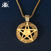 RIR Vintage Jewelry Stainless Steel Gold Sliver Magic Array Pendant Design Jewelry Necklace Jewelry For Man