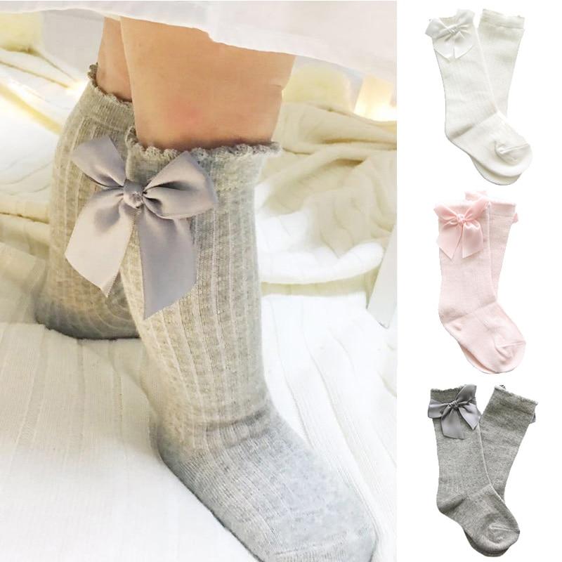 baby girl socks meias infantil Knee High Bows Princess