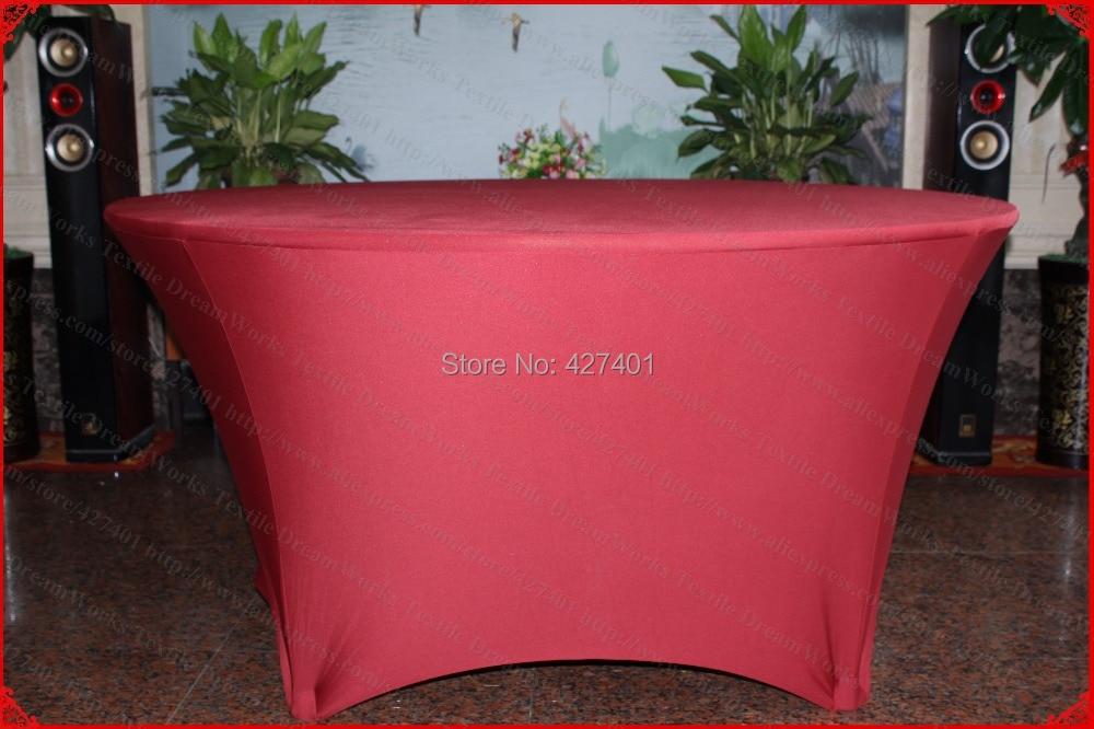 Bourgogne rød Lycra / Spandex bordafdækning / dug / bordløber / - Hjem tekstil