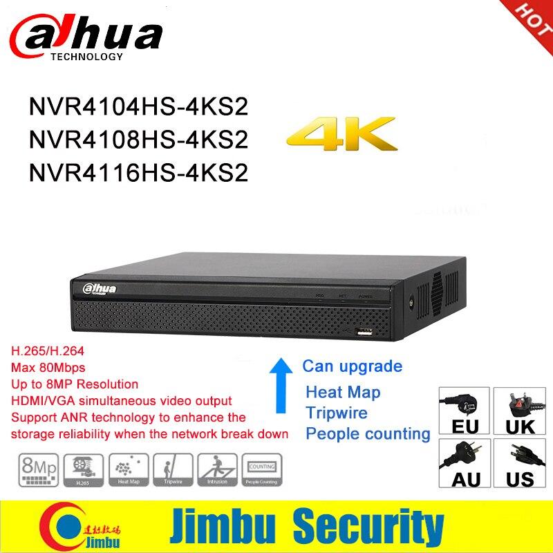 Dahua NVR Réseau enregistreur vidéo 4 K NVR4104HS-4KS2 NVR4108HS-4KS2 NVR4116HS-4KS2 4CH 8CH 16CH 4 K H.265/H.264 Multi-langue