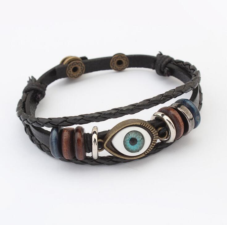 Poem snow Alloy leather rope handwear cute Eye Bracelet