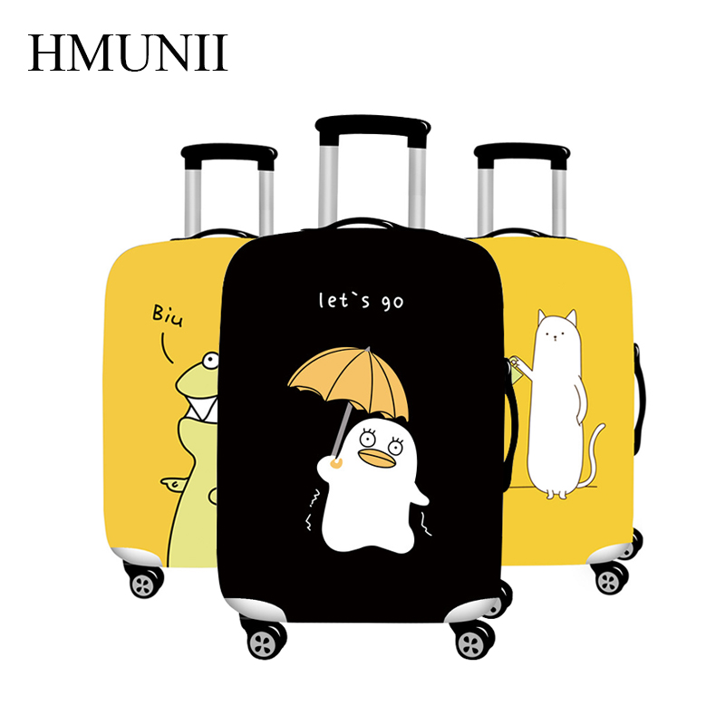 HMUNII Brand Animal Prints Elastic Luggage Protection Cover Apply To 18-32 Inch Trolley Suitcase Dust Cover Travel Accessories