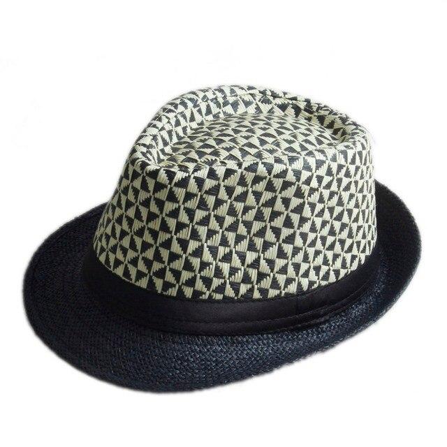 de51868163468 4 color straw Men Women Summer Fedora hat Trilby Gangster Cap Beach Sun  Straw Panama Hat Sunhat IN Stock!!!