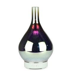 3D fajerwerków szklany wazon kształt nawilżacz powietrza z 7 kolorów Led Night Light zapachowy olejek eteryczny dyfuzor Mist Maker ultradźwiękowy Hu
