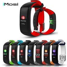 купить Imosi Smart band P1 PLUS Color display Fitness Bracelet Heart rate tracker Blood Pressure Monitor Wristband IP67 Waterproof дешево