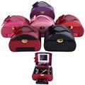 2016 Nuevo diseño de buen aspecto 5 color a elegir maquillaje Bolsa de Cosméticos caja de Maquillaje Caso de La Belleza vestido De Múltiples Capas Joyero Con Cerradura caja