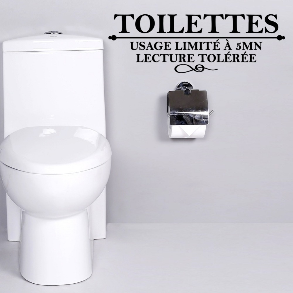 French Toilettes WC Door Decor Usage limite a 5 mn removable ...