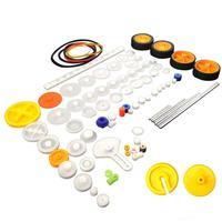82 stücke Kunststoff Getriebe Paket Kit DIY Getriebe Sortiment zubehör set für Spielzeug Motor Auto Roboter Verschiedene Getriebe Achse Gürtel buchsen