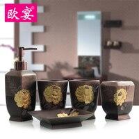 Ужин, пять комплектов китайский стиль ретро мыть туалет, набор из пяти наборов латекс бутылка зубных щеток Кубок набор
