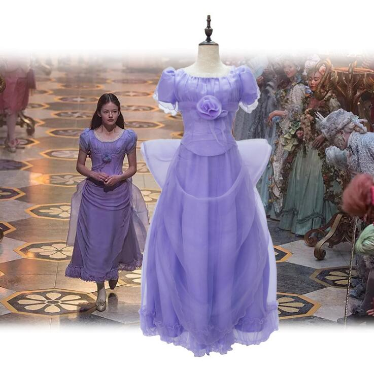 2019 The Nutcracker And The Four Realms princess clothing purple princess cosplay dress Plus size halloween costumes for women