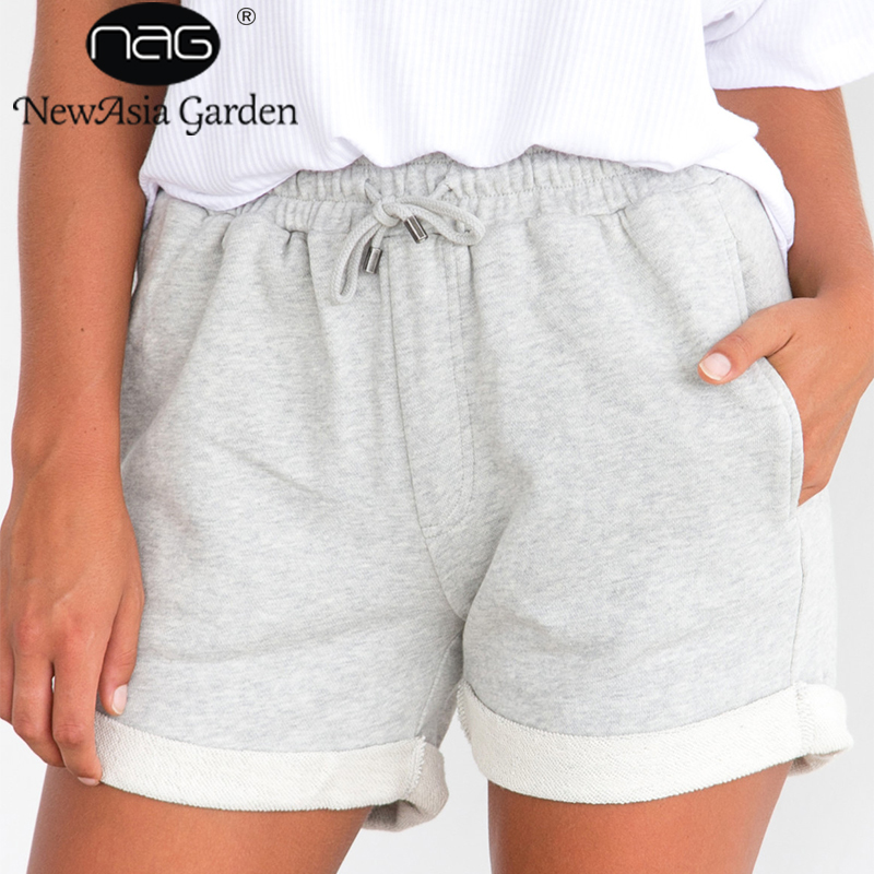 NewAsia Garden Flange Waist Drawstring Beach Belt   Shorts   Women High Waist Casual   Shorts   Casual Summer Loose Bow   Shorts   New 2018