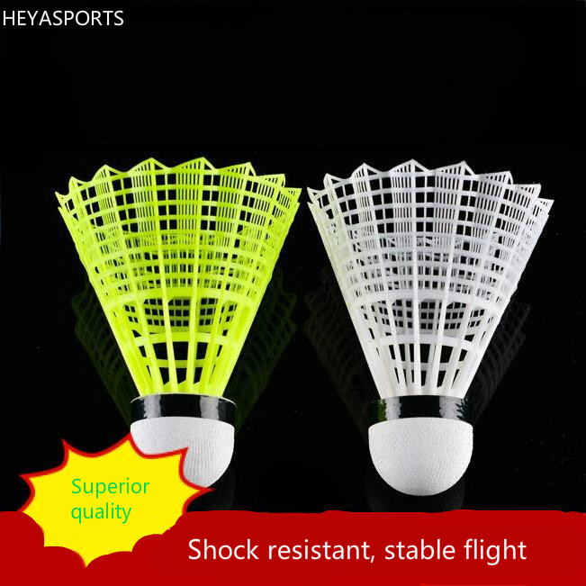 Free Delivery Stability Nylon Badminton Playing Badminton Shuttlecock A Bucket Of 12 Resistance To Hit Flying Stability