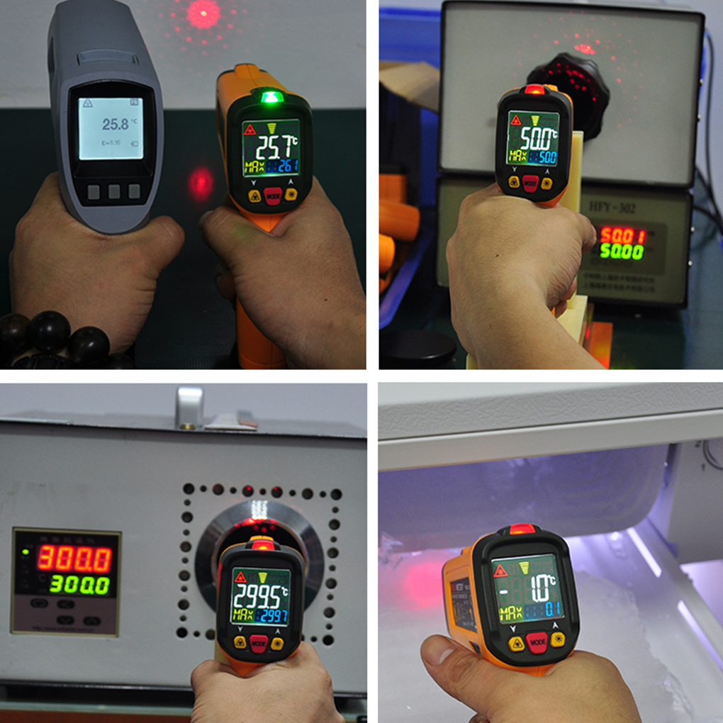PEAKMETER PM6530C Digital Infrared Thermometer -50-800 Degree Non-contact IR Thermometer K Type Thermocouple Temperature Meter 2017 bside btm21c infrared thermometer color digital non contact ir laser thermometer k type 30 500 led
