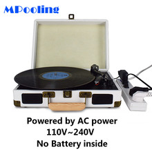 MPooling Portable Vinyl Record Player, Belt Drive 33/45/78 RPM Turntable, USB Recorder, AM/FM Radio, Aux-in, No Built-in Battery