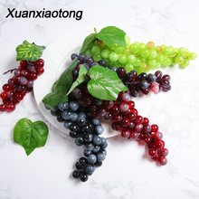 Xuanxiaotong Artificial Fruit Raisin Grape Farmhouse Country Style Balcony Decoration Plastic Fruit Garden Handing Plant Dekor(China)