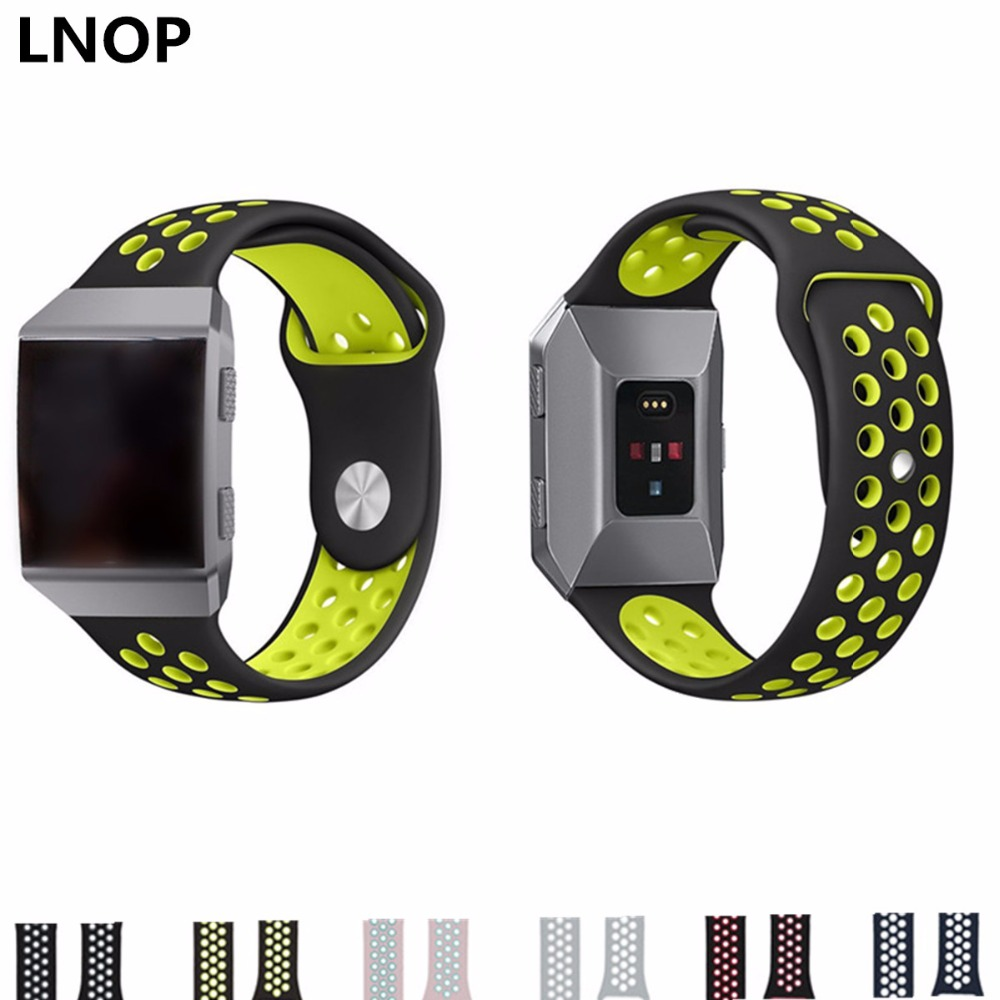 LNOP Silicone Strap Band for Fitbit Ionic Sport bracelet smart watch Replacement wristband Breathable smartwatch watchband