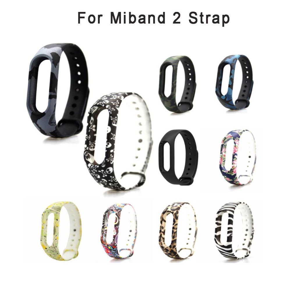 Colorful Silicone Wrist Strap Bracelet Double Color Replacement watchband for Xiaomi Mi band 2 Wristbands Band