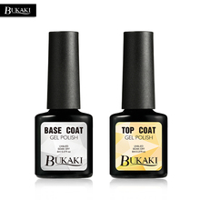 BUKAKI Top + Base Coat Set Gel Polish UV LED Soak-off Base Top Coat Gel Nail Varnish Long Lasting Nail Gel Lacquer