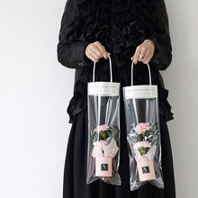 New 10Pcs 3 size Rose Tote Bag Transparent Gift Bags Wedding Party Decoration Can Hang Hard Girlfriend Flower  Boxes