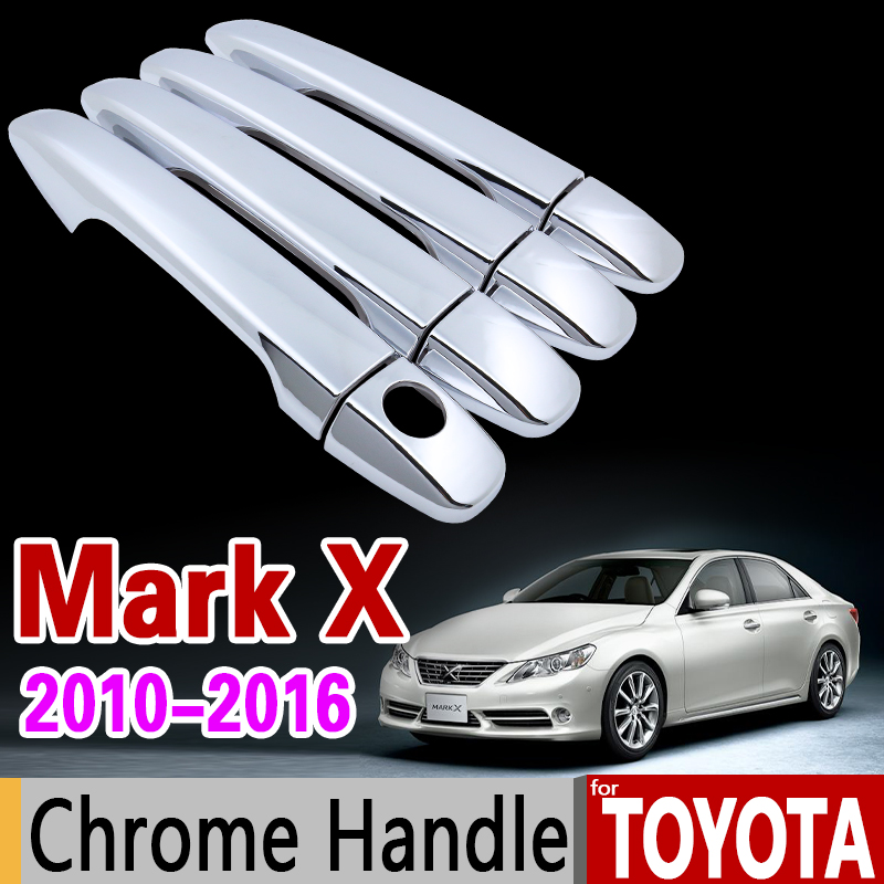 for Toyota Mark X 2010-2016 Japan Model Chrome Handle Cover Trim Set 2011 2012 2013 2014 2015 Accessories Stickers Car Styling for suzuki splash 2007 2014 chrome handle cover trim set of 4door 2008 2009 2010 2011 2012 2013 accessories sticker car styling