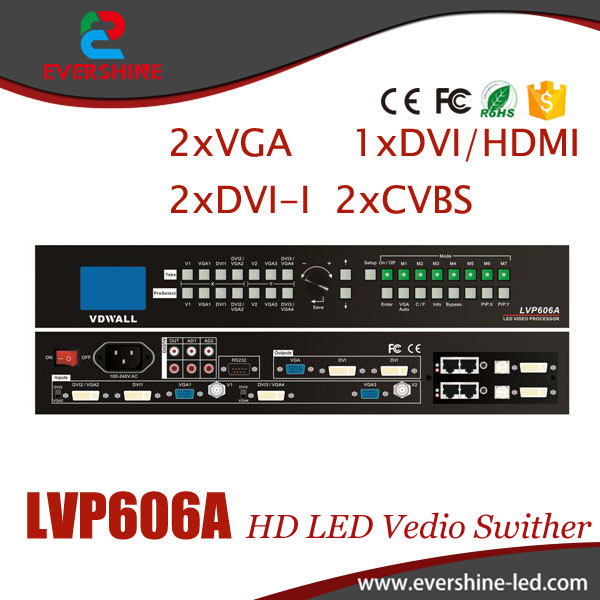 VDWALL LVP606A LED HD Switch Station Video Wall / Advertising LED Display Solution/LED Display equipment david booth display advertising an hour a day