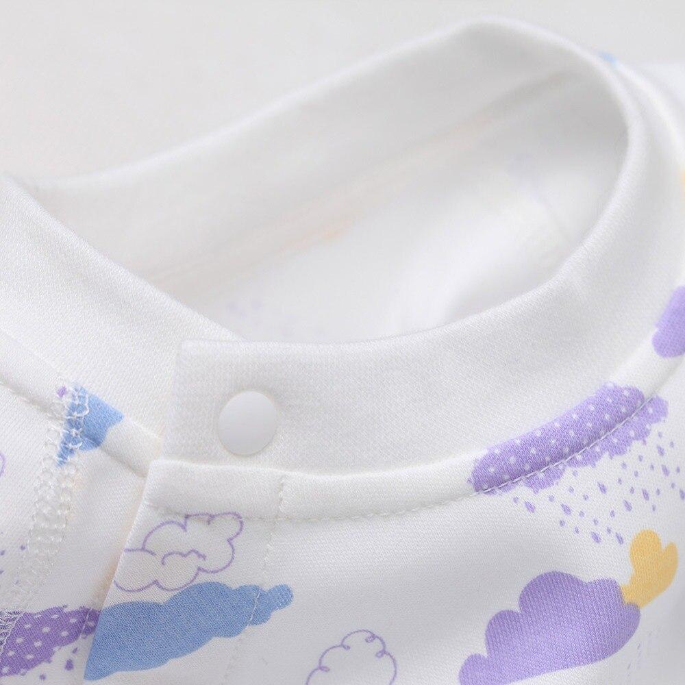 COBROO Unisex-baby katoenen rompertjes met lange mouwen wolkenpatroon - Babykleding - Foto 6