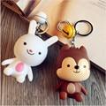 The sun  Hou yi  Cartoon doll keychain doll couple key chain bell pendant rabbit