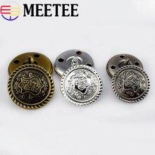 30Pcs Retro Metal Button Antique Brass Copper Jeans Coat Jacket Clothes Decorative Buckle Sewing B3-15