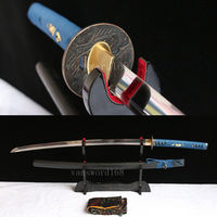 Free stand +handmade high carbon steel Japanese Samurai real Sword katana full tang sharp.