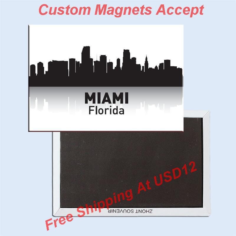 USA Travel Magnets Gifts 78*54*3mm Florida Miami Souvenir Fridge Magnets 20278