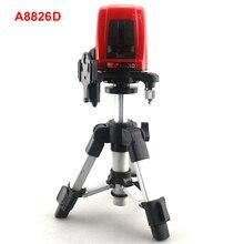 ACUANGLE A8826D 2 Linhas de Nível Laser com Tripé AT280 Vermelho 17.5-28 cm de 360 graus de Auto-nivelamento Cruz Níveis Laser