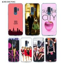 Transparan Clear Cover Seks dan Kota Poster untuk Samsung Galaxy Note 10 9 8 Pro S10e S10 5G s9 S8 S7 Plus Case(China)