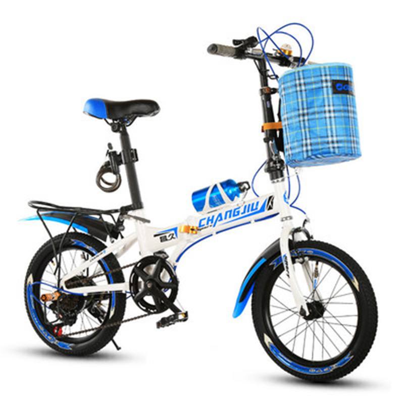 Folding Bike 16 Inch Speed Student Double V Brake Mountain Bicycle For Children And Adolescents