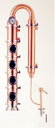 Frete Grátis 4 Todo Tipo de Cobre Flauta Destilador