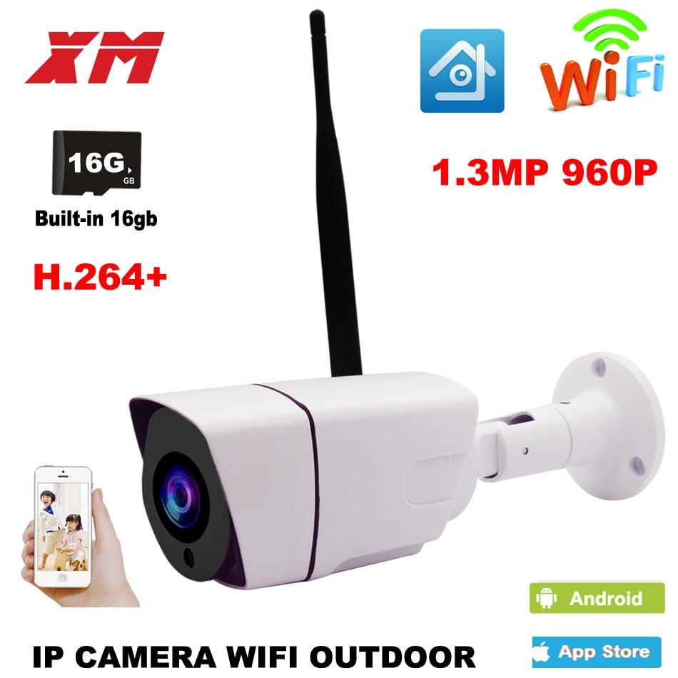 Outdoor Waterproof Bullet 960P IP Camera Wifi Wireless Surveillance Camera Built-in 16G Memory Card CCTV Camera Night Vision bullet camera tube camera headset holder with varied size in diameter