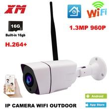 Outdoor Waterproof Bullet 960P IP Camera Wifi Wireless Surveillance Camera Built-in 16G Memory Card CCTV Camera Night Vision