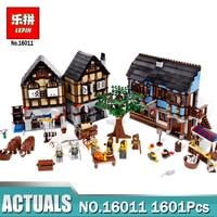New Lepin 16011 1601Pcs Castle Series The Medieval Manor Castle Set Educational Building Blocks Bricks Model