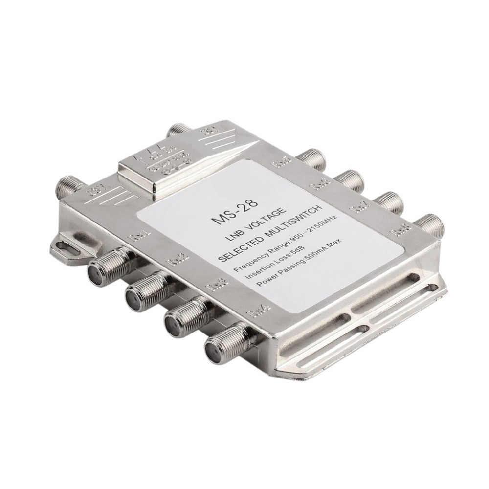 1 шт. 2 в 8 из JS-MS28 спутниковый сигнал Multiswitch LNB напряжение выбран 950-2400 МГц Multiswitch приемник LNB Multiswitch