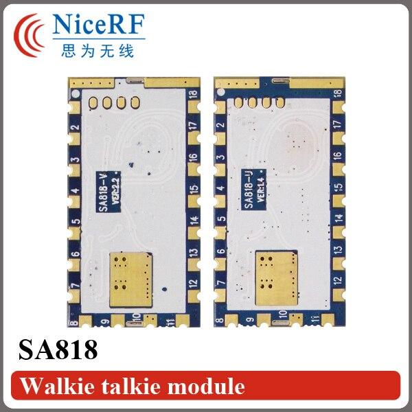 imágenes para 2 Unids/lote SA818 Nueva Generación RDA1846S Chip VHF 134 ~ 174 MHz/UHF 400-480 MHz 1 W 30dBm Analógico Módulo de Walkie Talkie