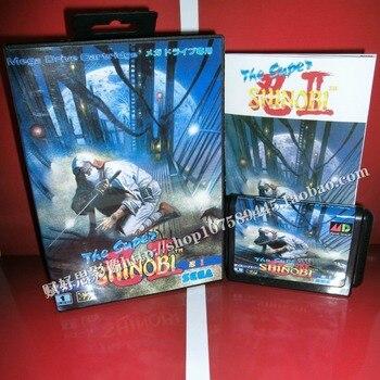 Супер SHINOBI 2 игры Картридж с коробкой и руководством 16 бит md карты для Sega Mega Drive для Genesis
