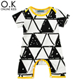 Baby Boy Rompers Summer 2017 Cartoon Geometry Newborn Girl Jumpauit For Baby Clothes Fashion Cute Triangle Infant Romper Costume