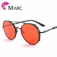 MARC UV400 WOMEN designer Gradient Pilot sunglasses Black Brown Sol gafas MEN fashion eyewear oculos