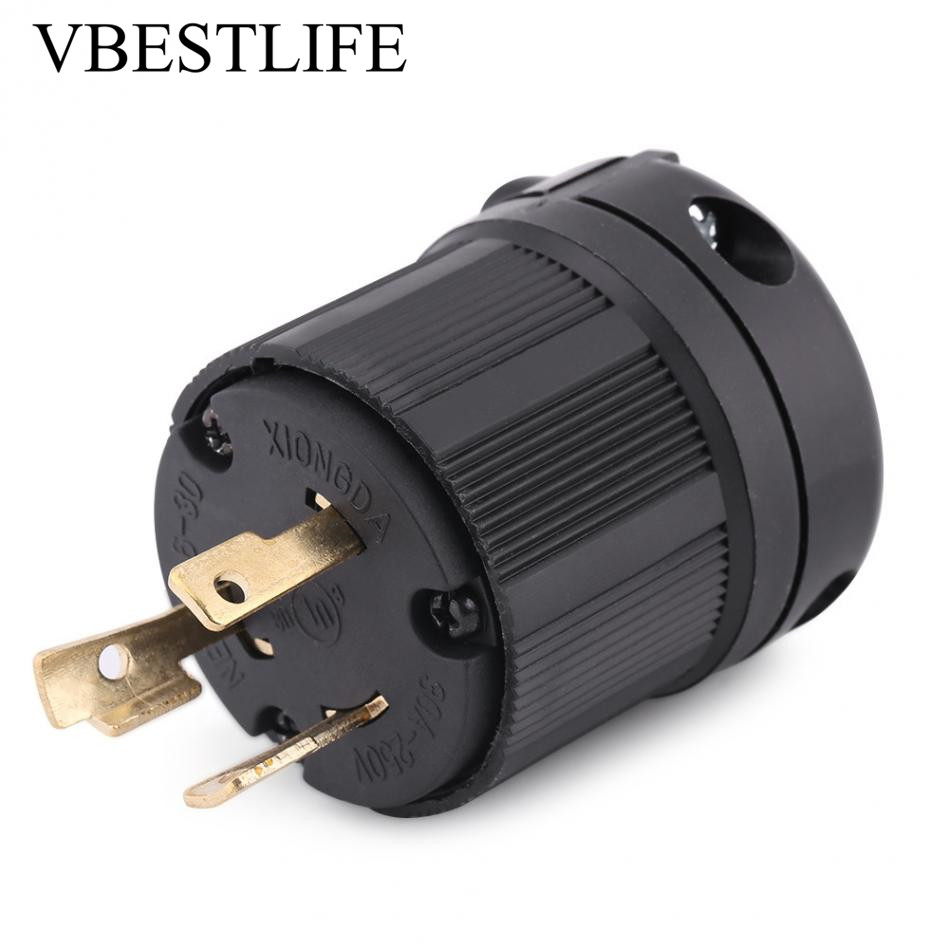 Anti Off Socket Us Plug Adapter For Nema 30a Generator L6 30p 220v Wiring 250v 3 Wire Twist Lock Electrical In Ac Dc Adapters From Home