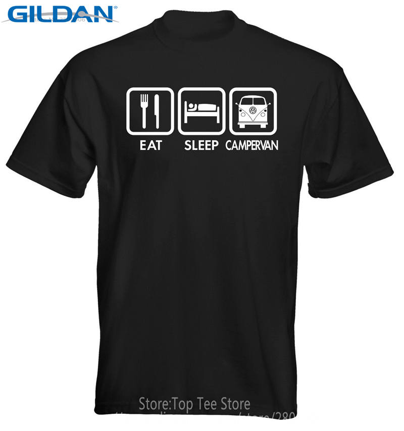 Funny Shirts Men Christmas Shirt Latest Funny Men Eat Sleep Campervan Shirt Shirt