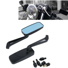 Universal Motorcycle Custom Side View Mirrors For Honda Yamaha Kawasaki Harley 8mm 10mm