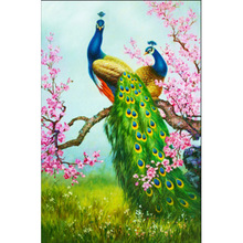 New 5D Diy diamond painting cross stitch peacock picture  embroidery mosaic Pattern home decor Needlework