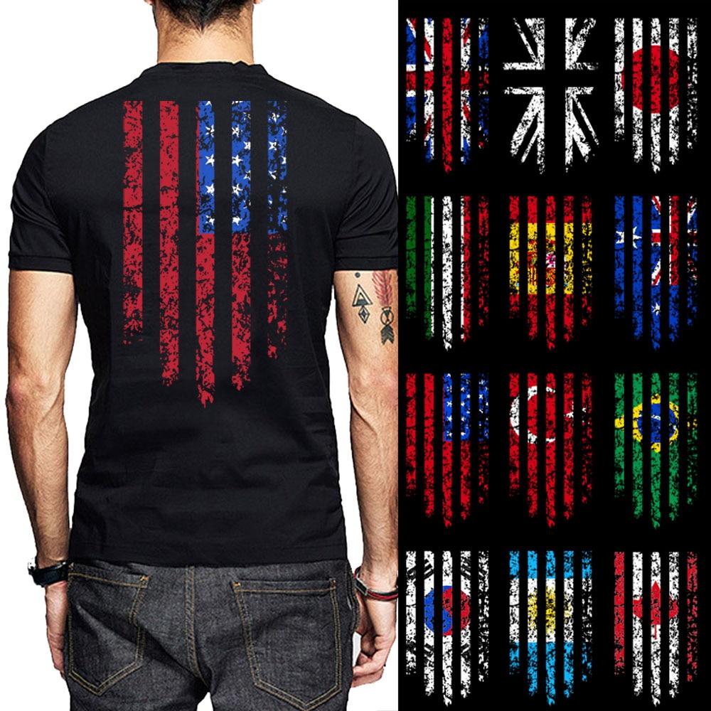 Flag (ANY COUNTRY) Print Men TShirt Argentina Korea Canada Brazil Turkey USA Australia Spain Italy Japan UK Cotton O Neck Shirts