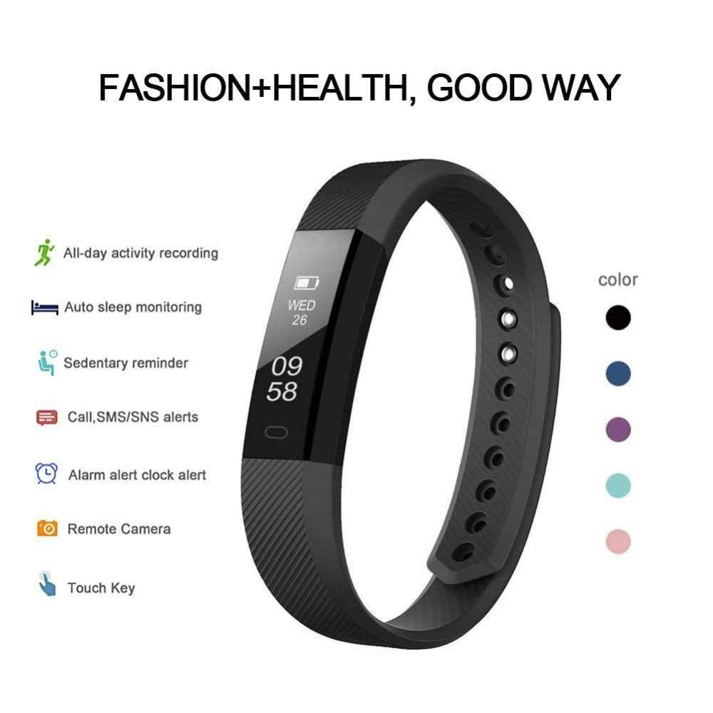 ID115 Smart Bracelet Band Sleep Activity Fitness Tracker Alarm Clock Pedometer Wristband For IOS Android pk Fitbits