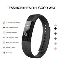 ID115 Smart Armband Band Slaap Activiteit Fitness Tracker Wekker Stappenteller Polsband Voor IOS Android pk Fitbits(China)
